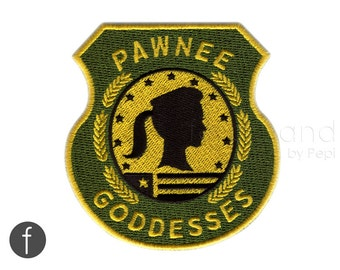 Pawnee Goddesses Badge Parks and recreation Iron on Patch