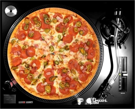 Pizza Slipmat Dj Turntable Slipmats Music Gifts Record Vinyl