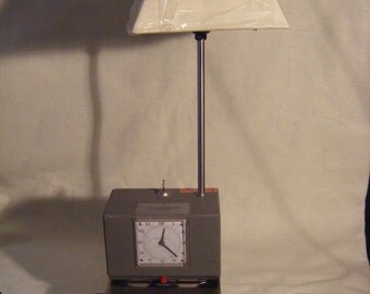 Time Stamp Desk Clock with Lamp