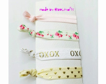 Rose pink Hair tie set