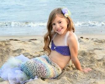 Girls mermaid costume - girls mermaid outfit - baby mermaid costume - mermaid photo prop