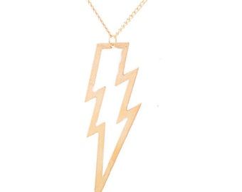TCB Lightning Necklace in White