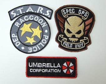 Resident Evil Umbrella/STARS Uniform/Costume Patch Set of 3