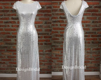 Sequin Wedding Bridal Dress,Red Sequins Formal Dress,Evening Prom Ball Gown,Stunning Party Dress,Formal Occasion Dinner Music Concert Dress