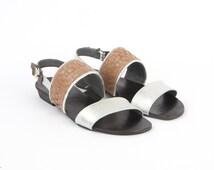 Luke Womens Silver Leather Flats Sandals Summer Braided Greek Strap Buckle Flip Flops Size 6 7 7.5 8 8.5 9 9.5 10 10.5 11 37 38 39 40 41 42