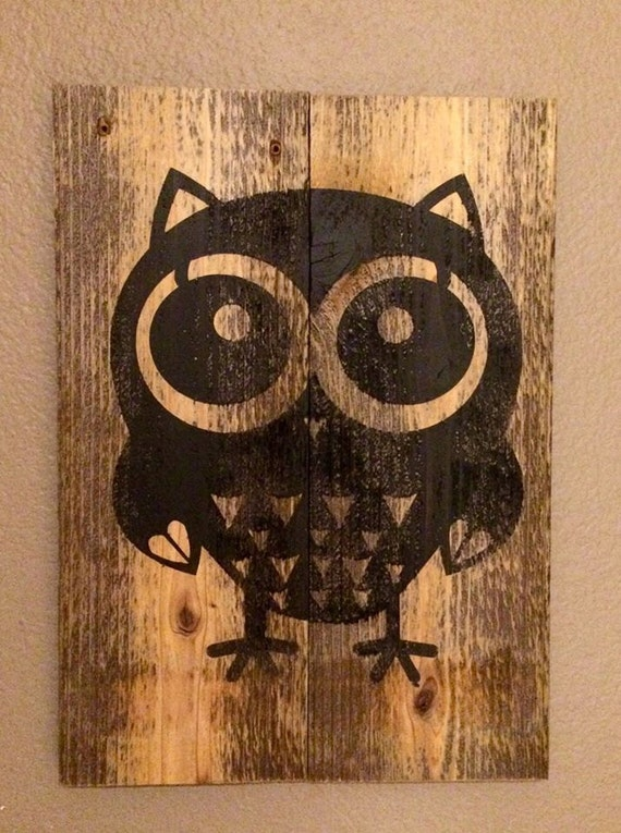 Owl Decor Childrens Gifts Signs Home Decor Rustic By