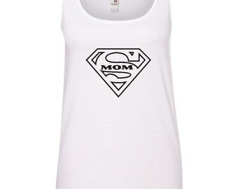 Supermom Ladies Tank Top ~ Best mom Tank Top For Women~ mothers day gift~ Supermom Tank Top
