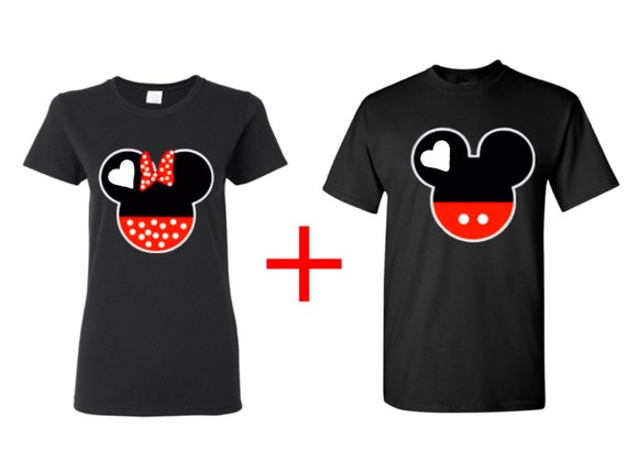 Mickey And Minnie Couples Shirts Mickey and Minnie cart...