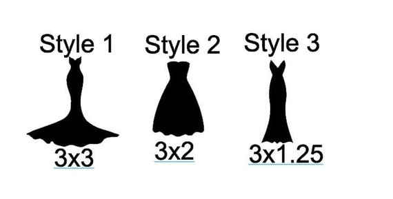 DIY Wedding Dress Vinyl DecalsStickers For Wine Glasses Mugs - How to make vinyl decals for wine glasses