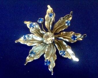 48} 925 Flower Pendant/Pin signed piece brooch