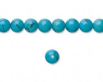 Czech Glass 6mm Druk - Turquoise - Pack 30