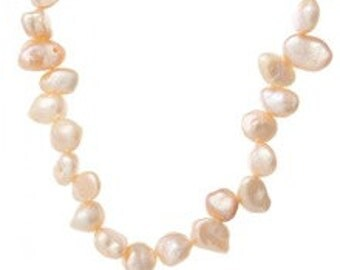 Freshwater 5mm Irregular Pearl Nuggets - Dusty Pink - 24 grams