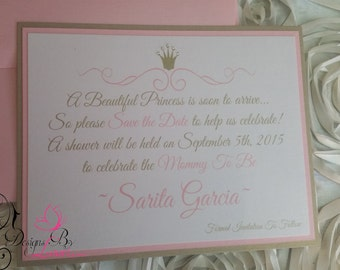 SET OF 15 Royal Princess Baby Shower Save The Date