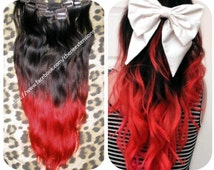 beliebte artikel f r red black ombre hair auf etsy. Black Bedroom Furniture Sets. Home Design Ideas