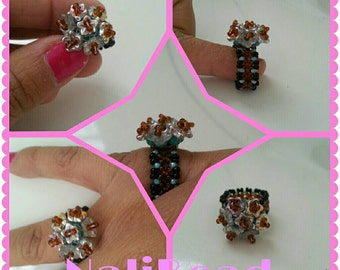 Flower bouquet ring size 6