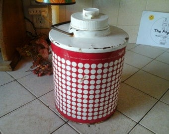 1950's Red and White Spiffy Dot Thermos