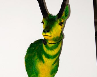 Taxidermy - Green & Yellow Antelope