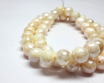 Free Shipping 8% off sale Pink Moonstone faceted beads faceted beads- faceted roundel 8.5-9 M.M. 8 inch strand
