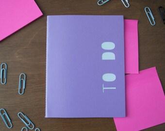 Purple To-Do List Mini Notebook