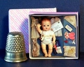 1960s Candy Fashion Doll Tiny Tears Layette Doll Box