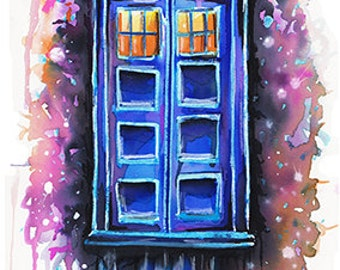 Doctor Who - Watercolour Painting - Print