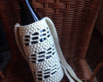 Crochet Wine Holder, Wine Holder, Bottle Holder, Crochet Bag, Wine Bag, Crochet Wine Bag
