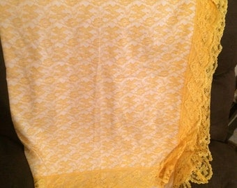Vintage Bright Yellow Table Cloth