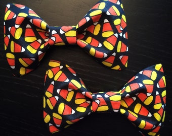 Candy Corn Halloween Hair Bow