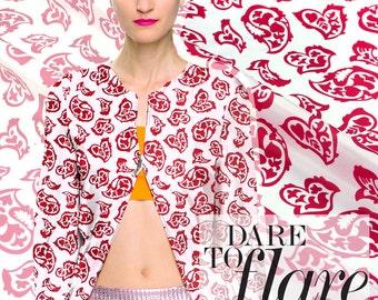 110cm wide 12mm red print silk fabric for summer dress shirt