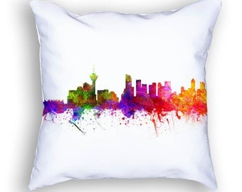 Vancouver Pillow, Vancouver Canada, Vancouver Skyline, Vancouver Cityscape, Cushion Home Decor, Gift Idea, Pillow Case, CABCVA02PI