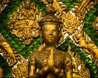 Golden Thailand Temple Statue Photo Print 8x10, 11x14, 16x20 or canvas