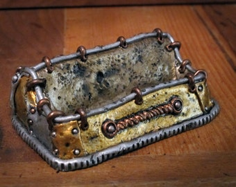 Unique Steampunk Business Card Holder