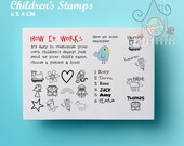 Personalised polymer stamp for Children -  Custom stamp