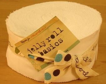 Bella Solids White Jelly Roll by Moda Fabrics for Moda Fabrics