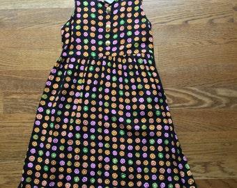 90s Flower Dress Short Minidress Sundress