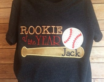 Baseball TShirt Rookie of the Year with Name