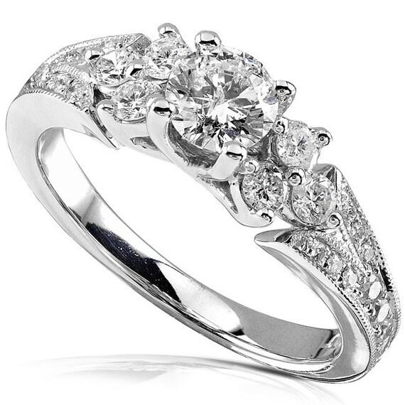 engagement ring 7 8 carat ctw in 14k white gold