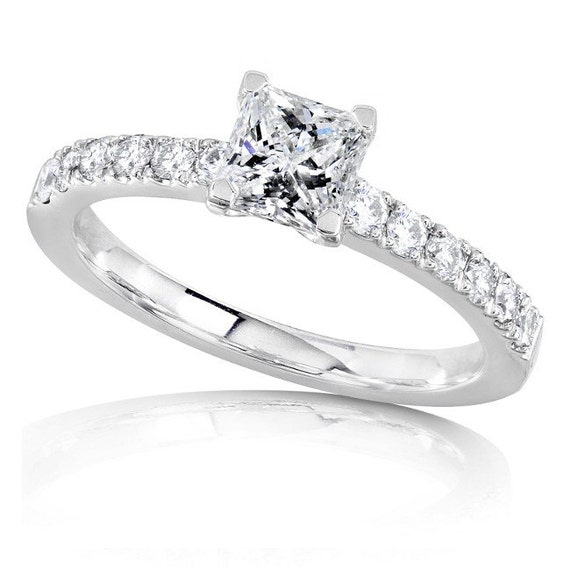 Diamond Engagement Ring 3 4 Carat ctw in 14K White Gold