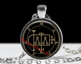 39 MALPHAS demon seal pendant, Goetia sigil necklace, Lemegeton jewelry, Lesser Key of Solomon, occult, summoning demons amulet #104.39