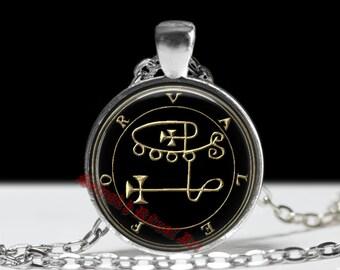 6 VALEFOR demon seal pendant, Goetia sigil necklace, Lemegeton jewelry, Lesser Key, occult pentacle, summoning demons ritual amulet 104