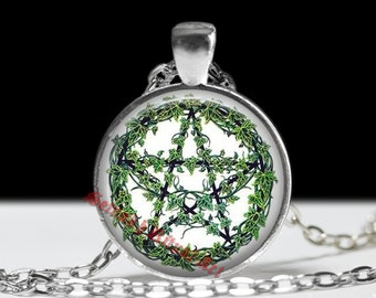 Pagan jewelry, Pentagram pendant, wiccan neclace, druid amulet #112
