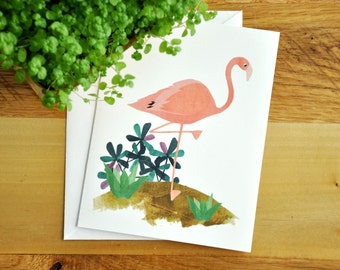 Flamingo Greeting Card, Blank