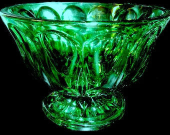 SALE...WAS.10.00...Emerald Candy Dish