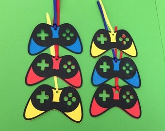 Video Game Controller Favor Tags, Arcade Tags, Video Game Tags