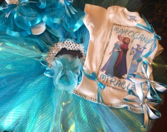 Frozen tutu birthday outfit