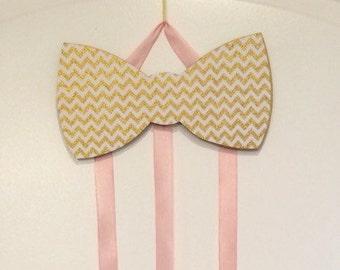 Bow Shaped HAIR BOW HOLDER - custom hair bow holder - hair bow organizer
