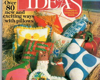 1980 Simplicity PILLOW IDEAS Over 80 Ideas Complete instructions Sewing Needlework Easy Pillows Gift Pillows
