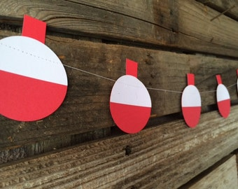 Fishing Party Bobber Garland - Fishing Bobber Garland, Gone Fishing, Party Decorations, Birthday Party, Baby Shower