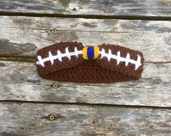 Crochet Baby Football Headband