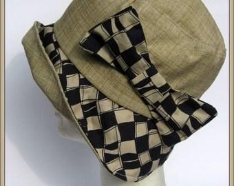women's hat, handmade, Audrey style, blu